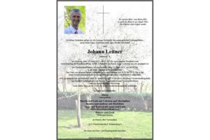 Nachruf Johann Leitner